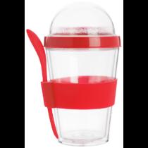 Bircher pohár kanállal